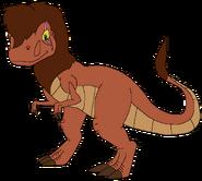 Koro as young adult with scar thetarbosaurusking2samsonskingdom
