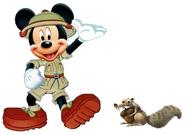 Mickey meets Scrat