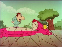 Pink panther trapped in the net with big nose 2.jpg