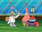 Sandy got an idea to find spongebob