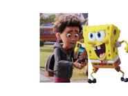 SpongeBob holds Alex with Phone