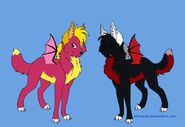 Spyro and Cynder as Wolves