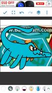 Dennis as Mosasaurus