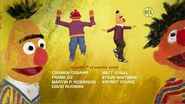 Ernie and Bert dancing in the 2009 closing credits sequence