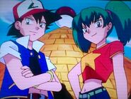 Jessie and James impersonating Duplica and Ash