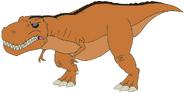 Kim as T-Rex