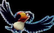 Rafael flying transparent