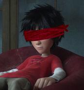 Hiro Hamada blindfolded