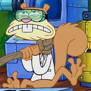 Sandy gets strangle 11