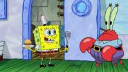 Spongebob tell krabs job