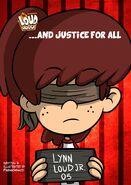 Lynn blindfolded