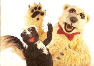 Stinky the Skunk and Jake the Polar Bear