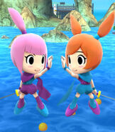 Kat & Ana in Super Smash Bros. for Wii-U and 3DS