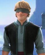 Kristoff blindfolded