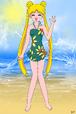 Sailor Moon's sunflower swimsuit