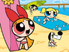 The Powerpuff Girls are about to go surfing