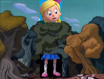 Goldie in Wonderland Goldie grows a big size.png