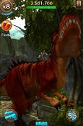 Lara Scratching T-Rex's Back (2)