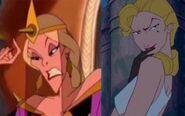 Ludmilla and Helga Sinclair (Bartok the Magnificent and Atlantis - The Lost Empire)