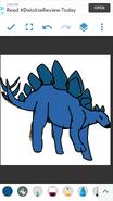 Molly as Stegosaurus