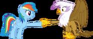 Rainbow Dash and Gilda