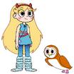 Star meets Barn Owl