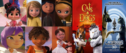 Penny, Coraline, Riley, Vanellope, Margo, Tip and Mai Likes Cats and Dogs and Cats and Dogs The Revenge of Kitty Galore