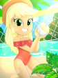 Volleyball with Applejack