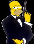 Homer Simpson as James Bond