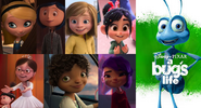 Penny, Coraline, Riley, Vanellope, Margo, Tip and Mai likes A Bug's Life