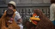 Scooter hugs Rowlf as he sings the goodbye song