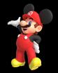 Mario as Mickey Mouse