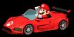 Mario driving his car