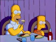 Mr. Bart and Homer eat.