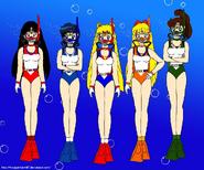 Sailor Scouts Scuba Diving
