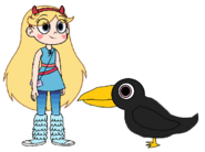 Star meets American Crow
