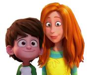 Nate Gardner and Audrey (Nate's Older Sister)