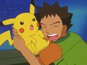 Brock saves Pikachu 5