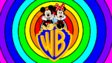 Mickey and Minnie went WB shield riding