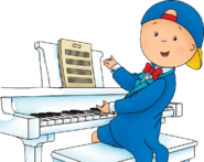 Caillou Playing the Piano But Gilbert is Removed CMFPB