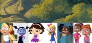 Charity Bazaar, Vampirina Hauntley, June, Goldie Locks, Aka Pella, Poppy Peepleson, and Bridget