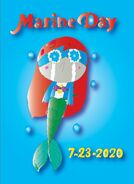Finished Marine Day 2020 Poster! - Online