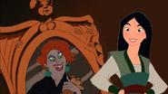 Mulan Looks at a Mirror of Madame Medusa by DaveGrrrrrrruly