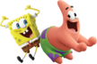 Spongebob and patrick sponge on the run