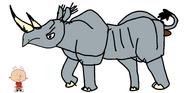 Stanley Griff meets Eastern Black Rhinoceros