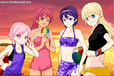 Jinx, Starfire, Raven and Terra in the summer