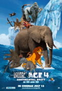 North American Age 4- Continental Drift- Poster