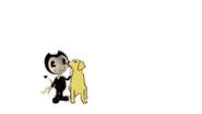 Bendy Meets Dog