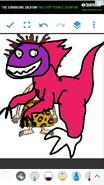 Donnie as Velociraptor