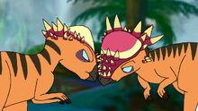 Pachycephalosauruses head-butt each other.jpg